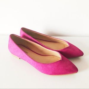 Call it spring purple suede flats shoes women's